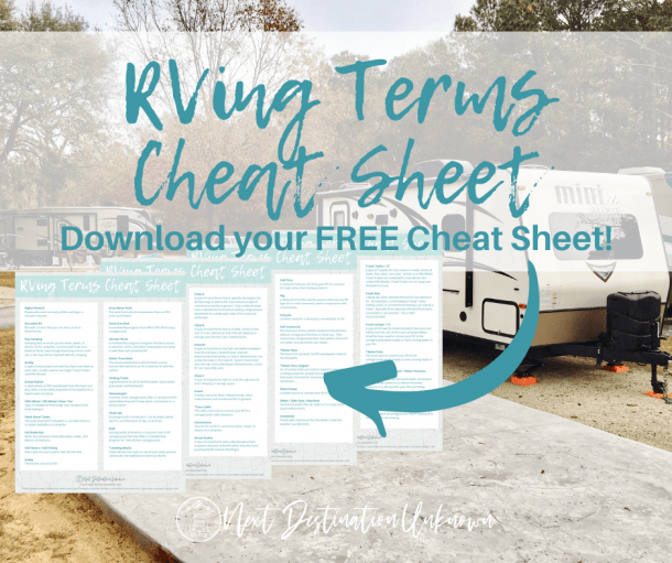Free RVing Terms Cheat Sheet