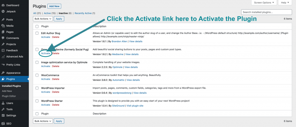 How to Activate WordPress Plugins to use them