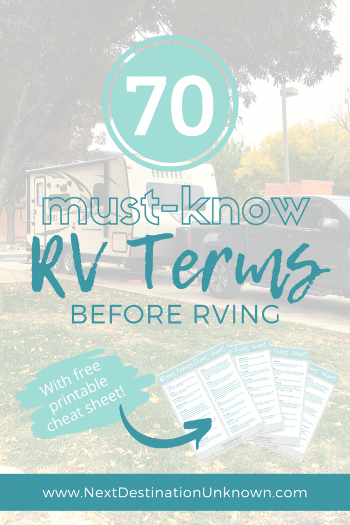 70 Must-Know RV Terms with Free Printable Cheat Sheet