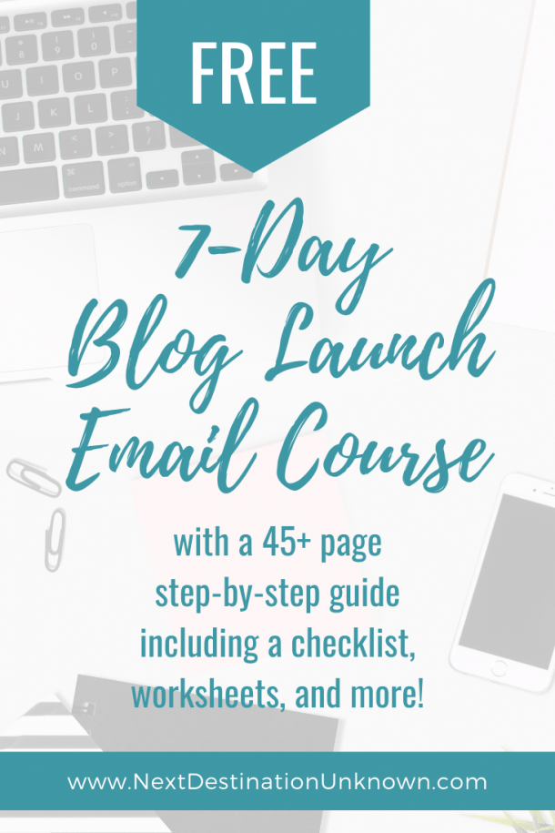 Free 7-Day Blog Launch Email Course