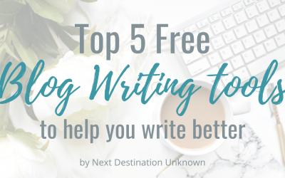 Top 5 Free Blog Writing Tools to Help You Write Better