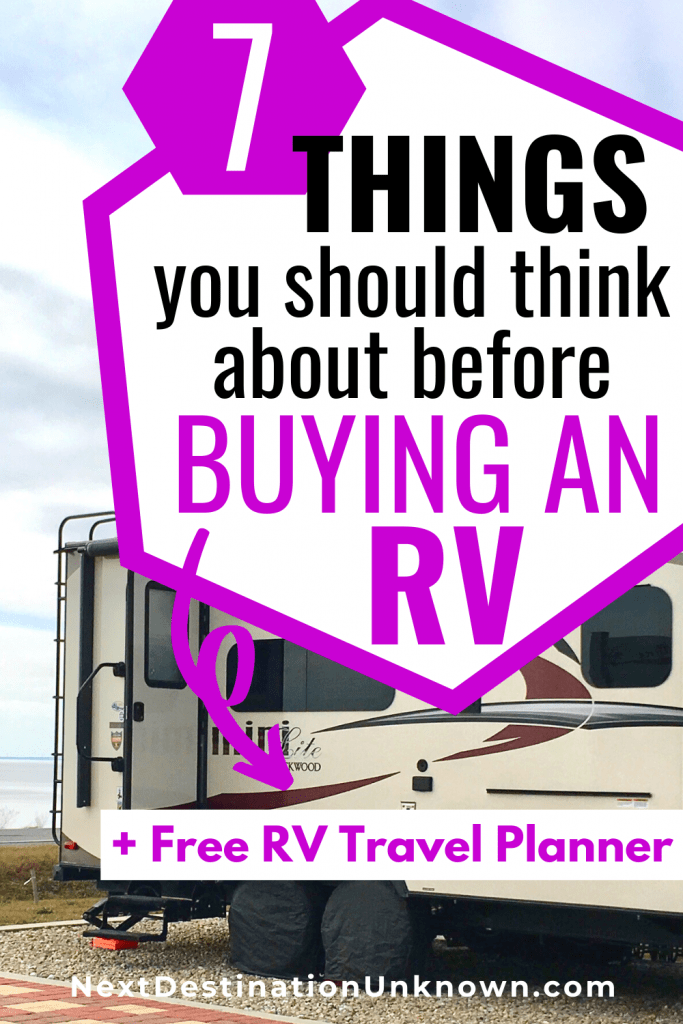 7 Things You Should Think About Before Buying an RV