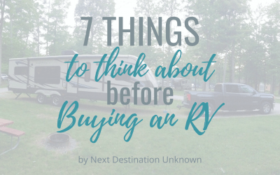 7 Crucial Things You Need to Think About Before Buying an RV for the First Time