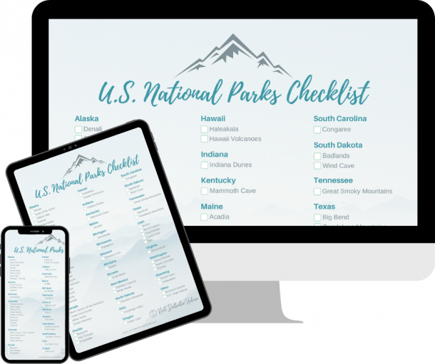 Get your Free U.S. National Parks Checklist Download here!