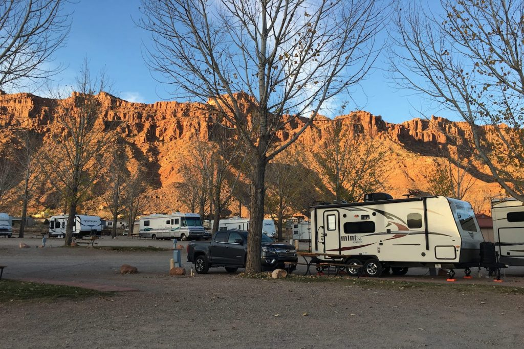 RV Park in Moab Utah for Arches National Park and Canyonlands National Park
