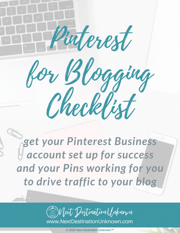 Free Pinterest for Blogging Checklist