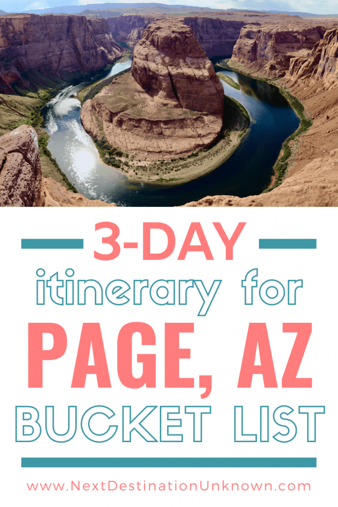 3-Day Itinerary for Page AZ Bucket List