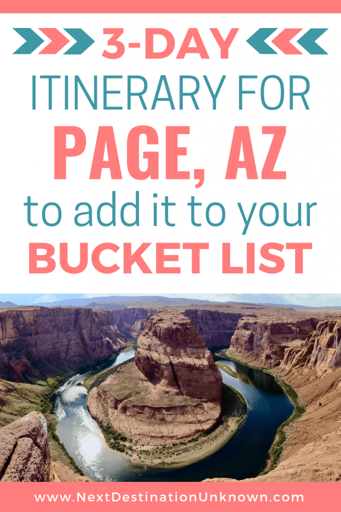 3-Day Itinerary for Page AZ to Add it to Your Bucket List