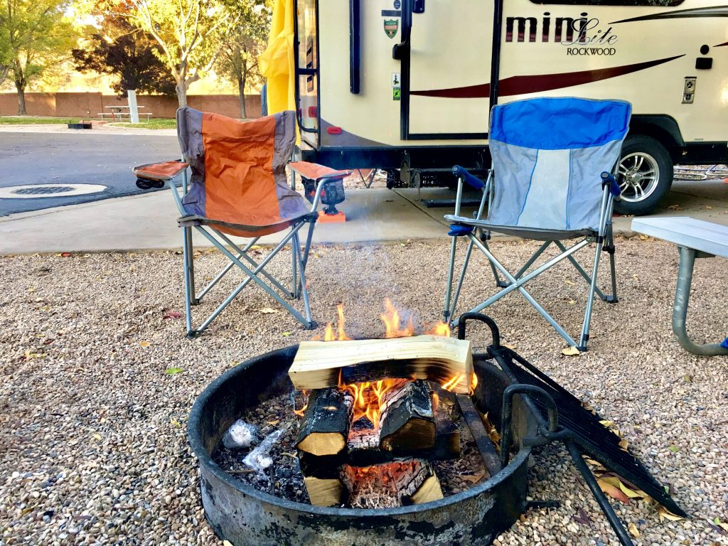 Campfire while Traveling by RV