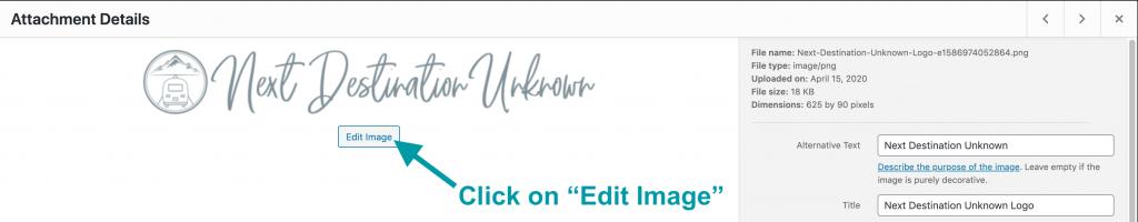 Edit Image in WordPress
