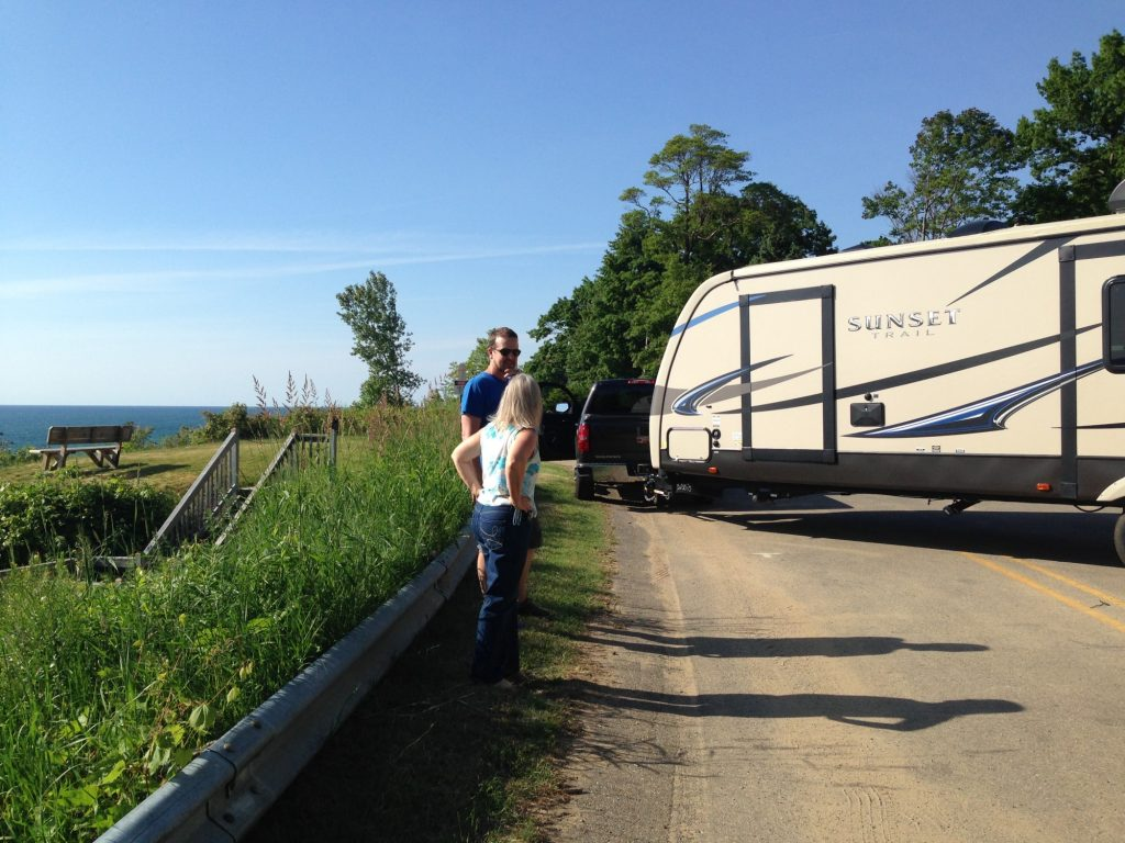meeting people while traveling by RV and getting help when we were stuck on a dead-end road