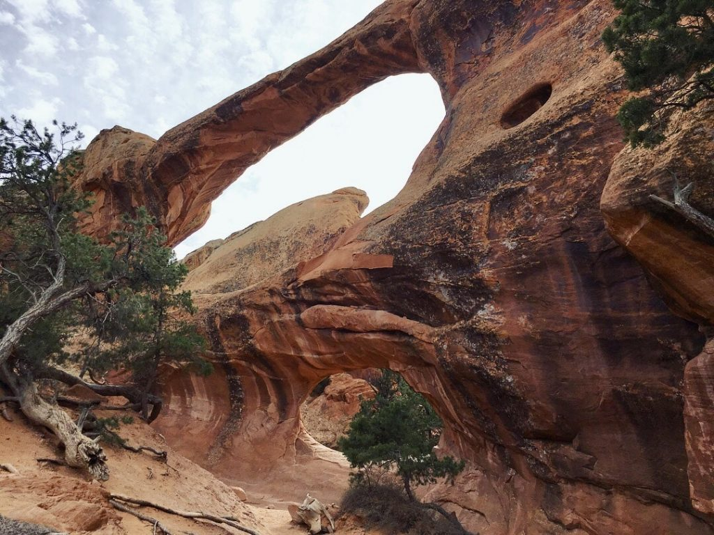 Double O Arch at Arches National Park in Utah