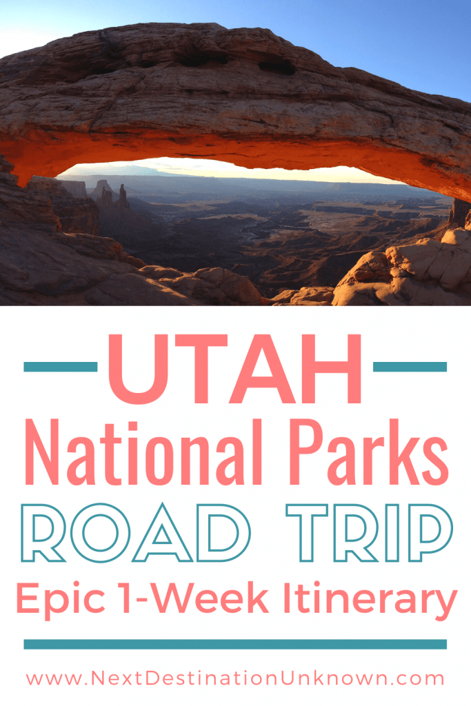 Epic Utah National Parks 1-Week Road Trip Itinerary