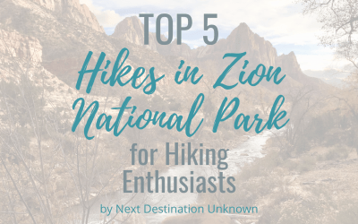 Top 5 Hikes in Zion National Park for Hiking Enthusiasts