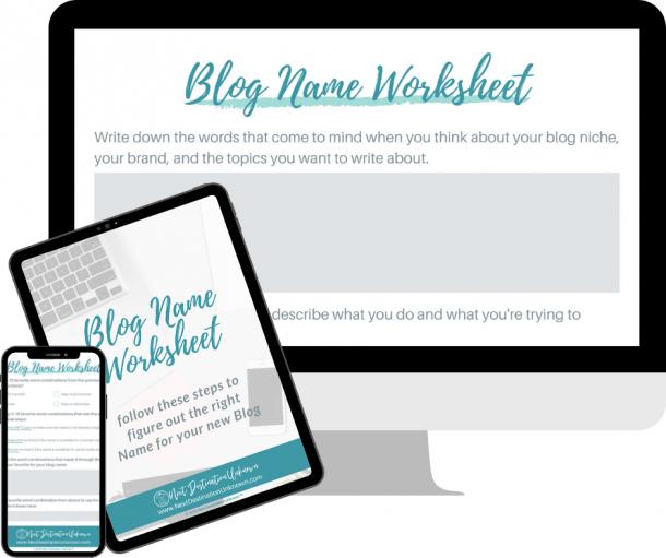 Free Blog Name Worksheet Download