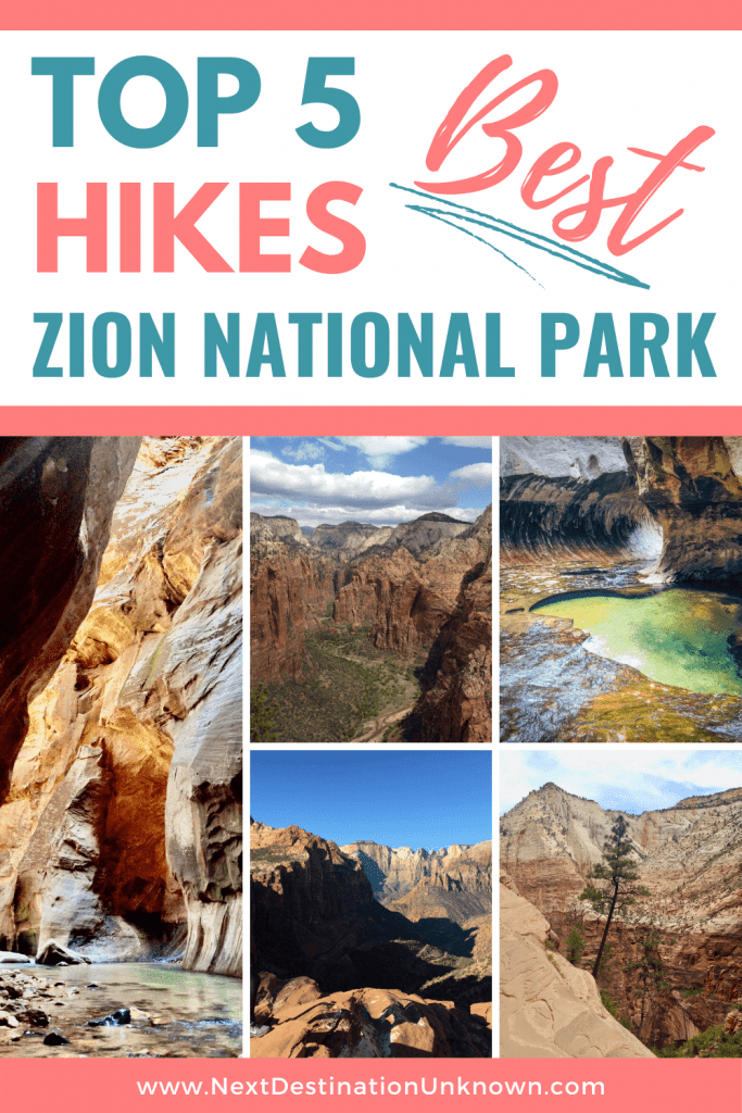 Top 5 Best Hikes in Zion National Park Utah