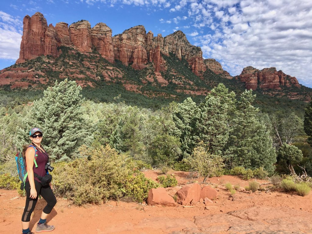Briana Hiking on Soldier Pass Trail in Sedona