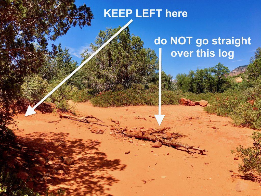 Long Canyon Trail Sedona - Keep Left Here