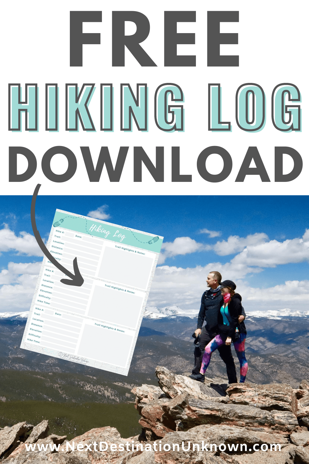 Free Hiking Log Printable Download for Hikers