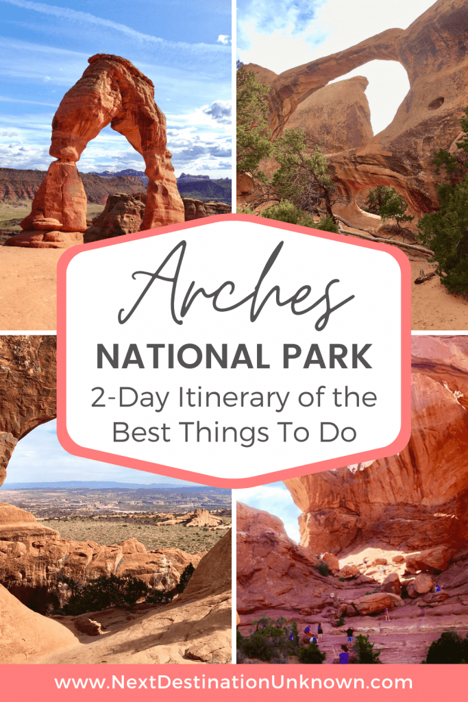 Arches National Park in Utah Itinerary