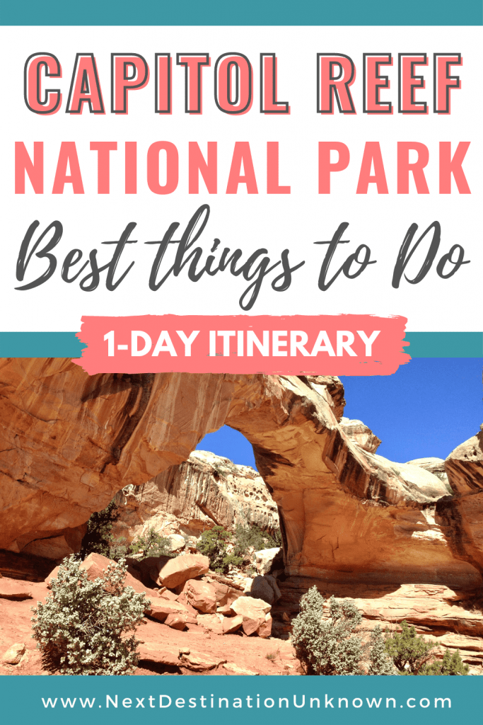 Best Things To Do at Capitol Reef National Park in Utah