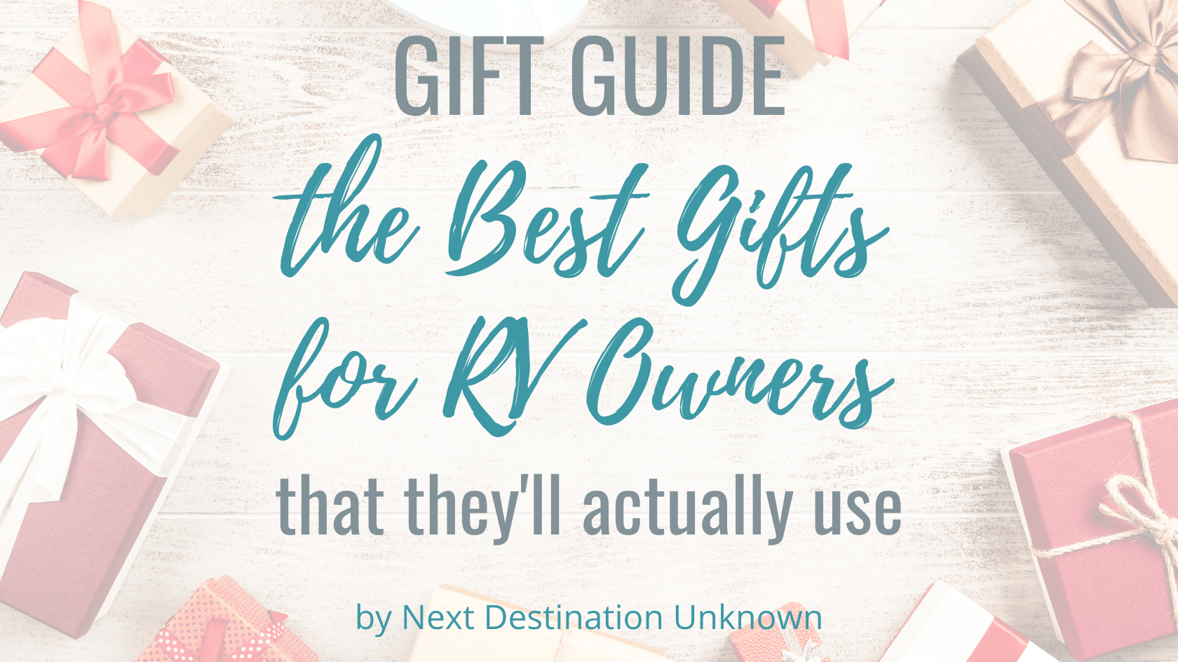 The Best Gifts for RV Owners That They'll Actually Use