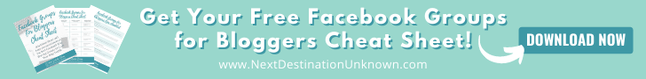 Free Download for Facebook Groups for Bloggers Cheat Sheet