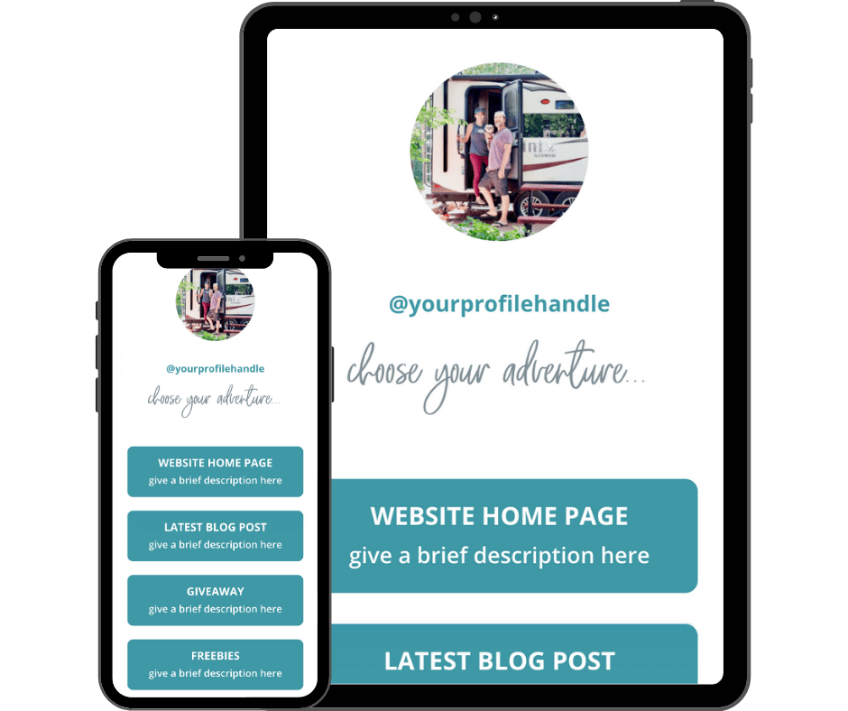 Divi Template for Instagram Links Page