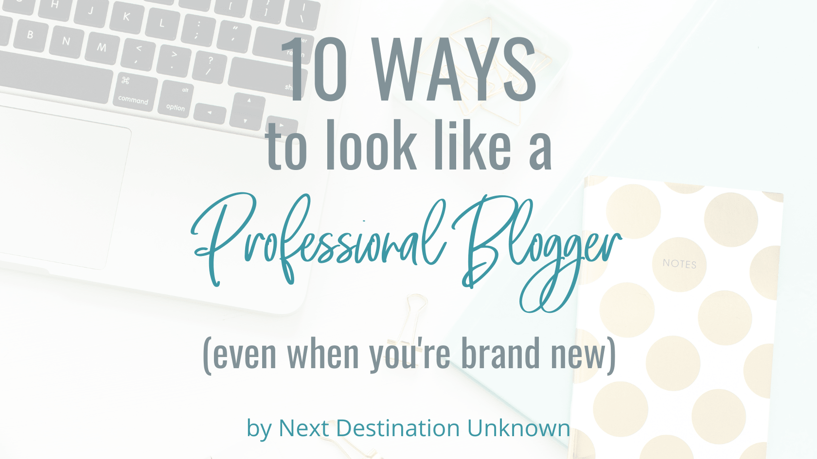 10 Ways to Look Like a Professional Blogger (Even When You're Brand New)