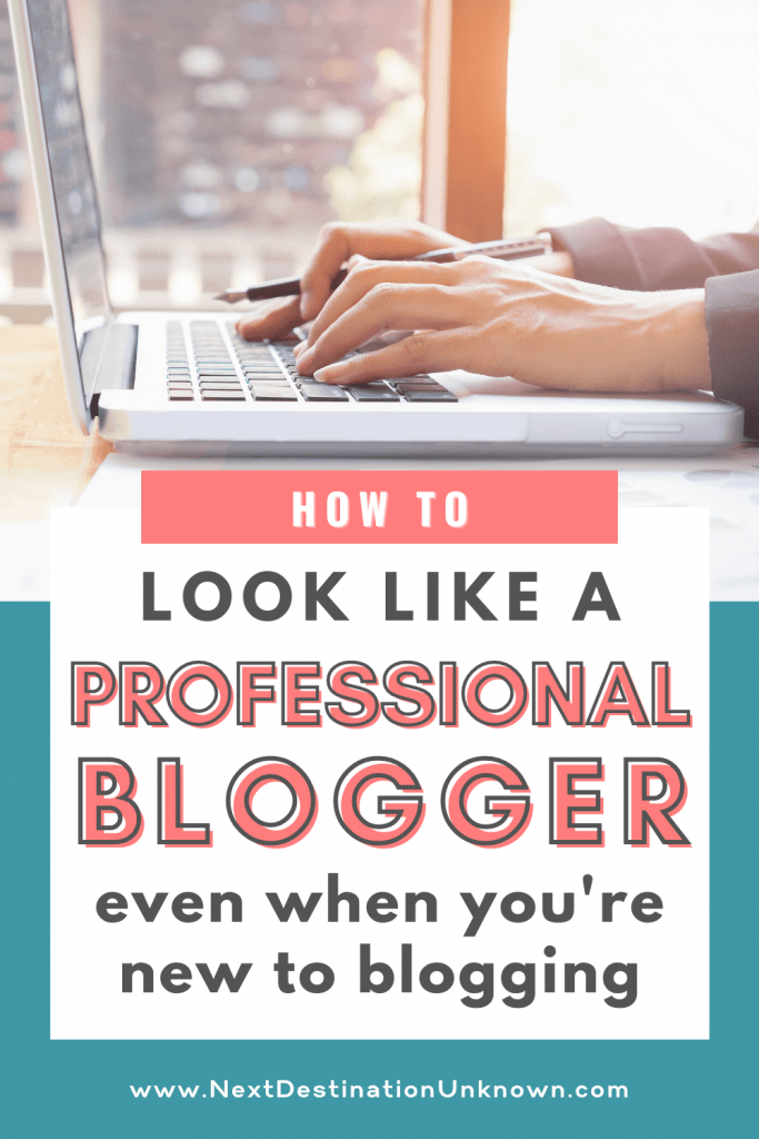 How To Look Like a Professional Blogger When You're a Beginner Blogger