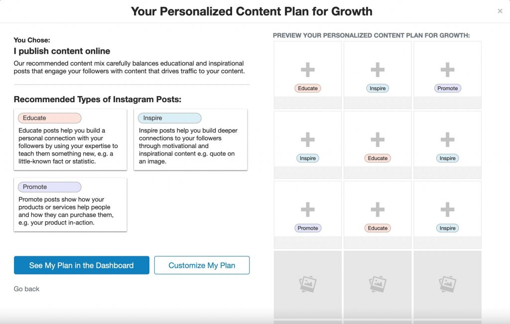 How to Grow Instagram Followers Organically with Tailwind - Customize Your Personalized Content Plan