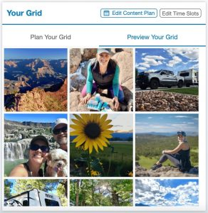 How to Grow Instagram Followers Organically with Tailwind - Preview Your Instagram Feed Grid