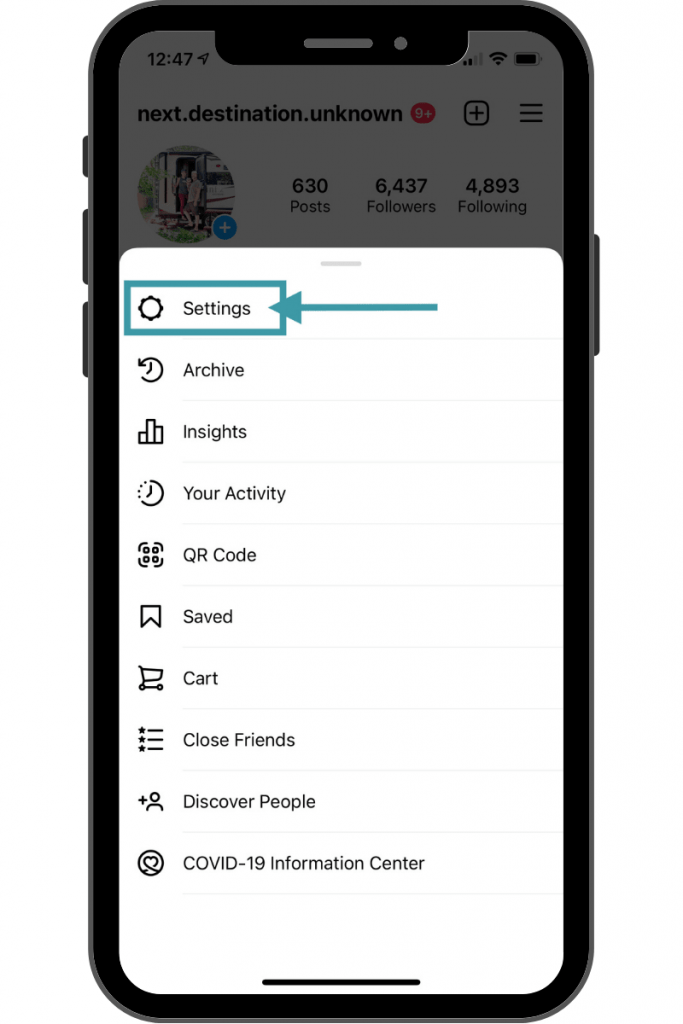Instagram Account for Business - Settings