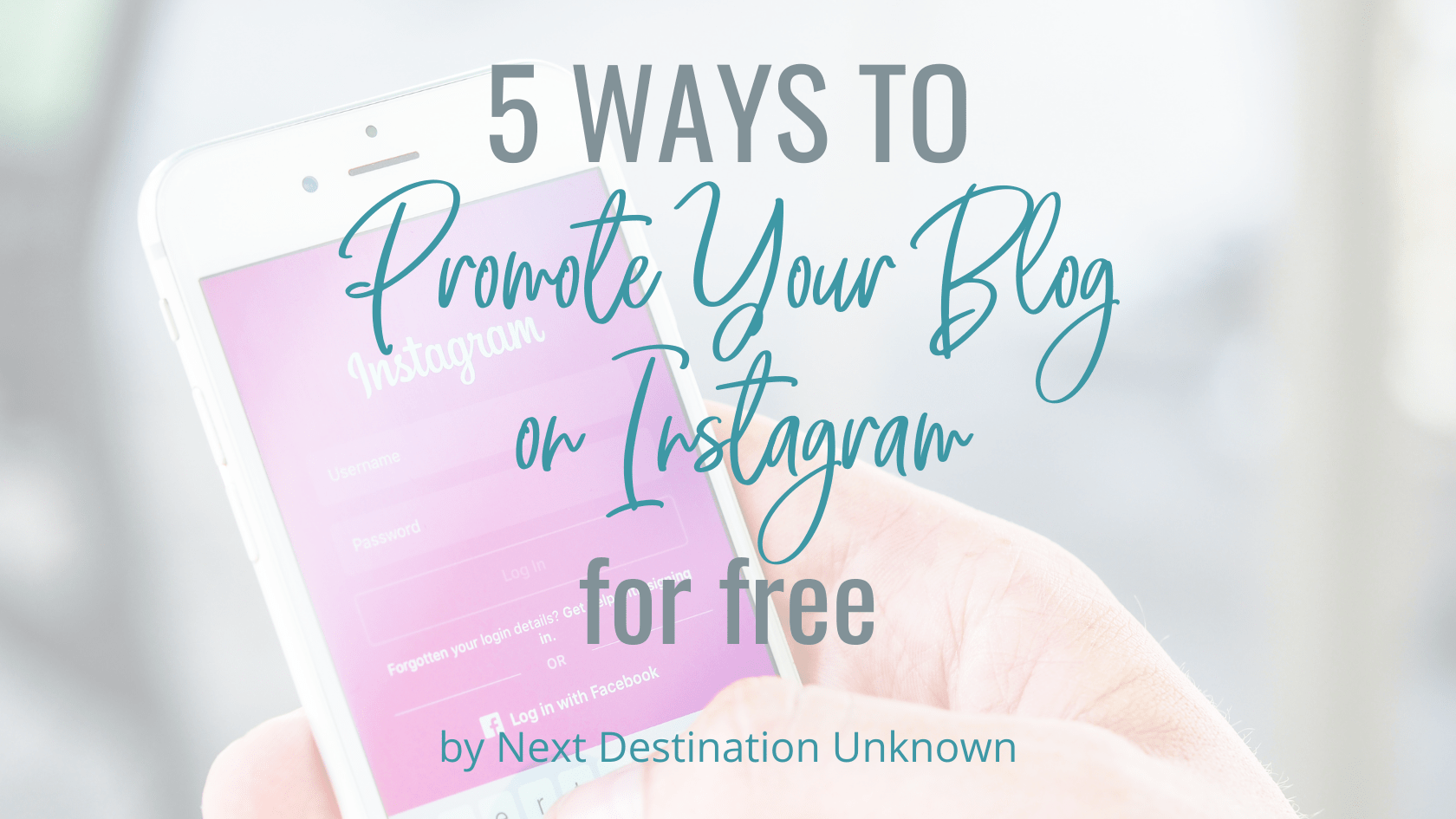 5 Creative Ways to Promote Your Blog on Instagram for Free