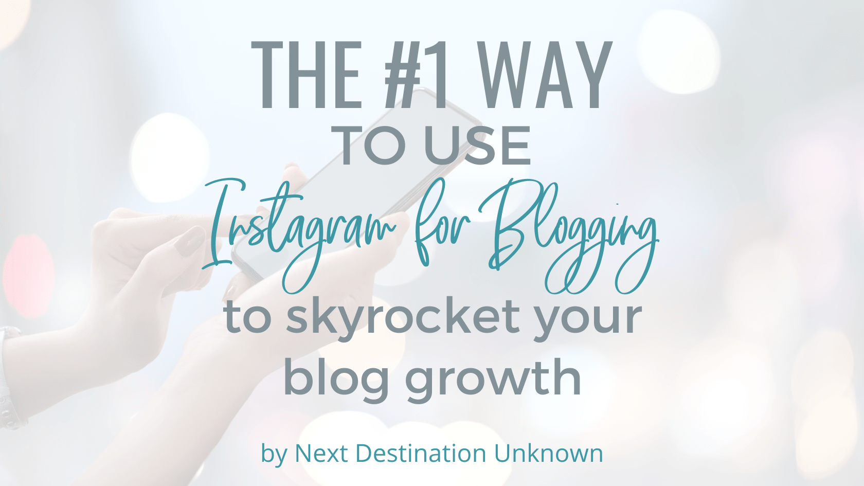 The #1 Way to Use Instagram for Blogging to Skyrocket Your Blog Growth