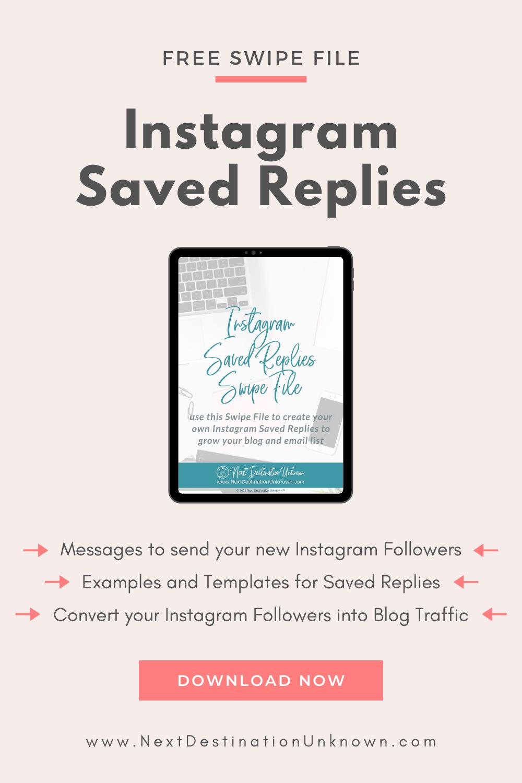 Free Instagram Saved Replies Swipe File Download