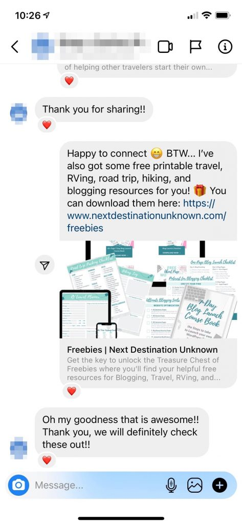 Instagram for Blogging Saved Replies Responses from Followers