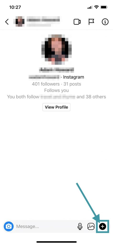 Option 1 Step 1 - How To Access Your Saved Replies for Instagram for Blogging