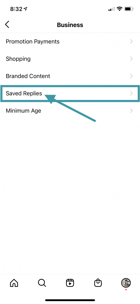 Step 4 - Creating a New Saved Reply for Instagram for Blogging