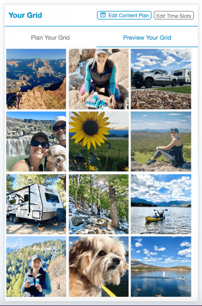 Tailwind for Instagram Grid Preview